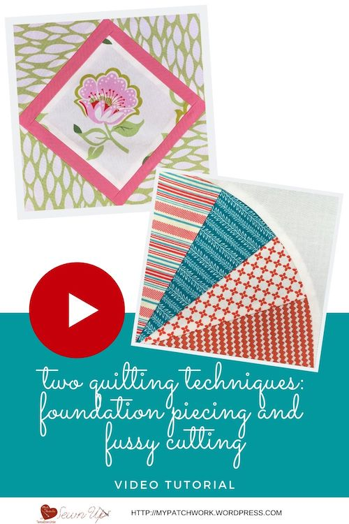 Fussy cutting and fan quilt block video tutorial
