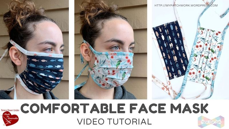 Face mask with ties video tutorial