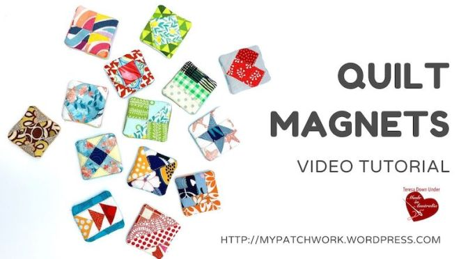 Quilt magnets pattern – video tutorial