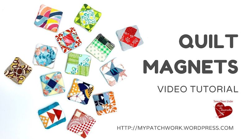 Quilt magnets video tutorial