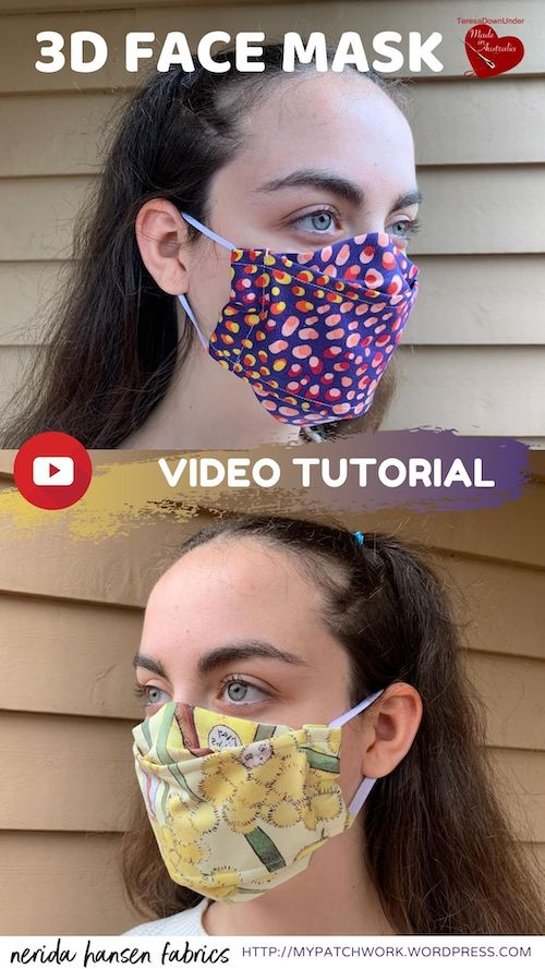 3D face mask video tutorial