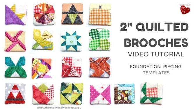 Quilted brooches video tutorial