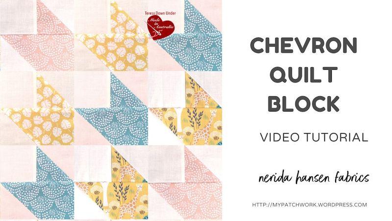 Chevron quilt block video tutorial