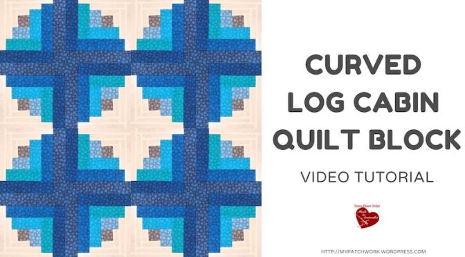 Curved log cabin quilt block – video tutorial
