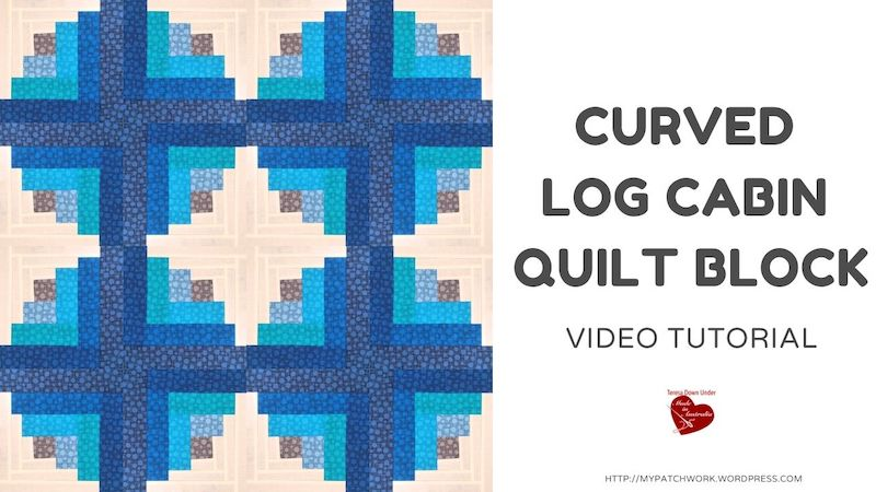 Curved log cabin video tutorial