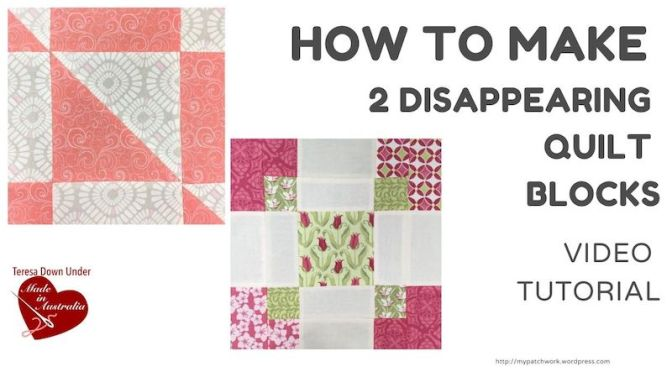 Two disappearing quilt blocks with pre-cuts