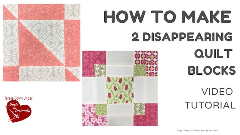 2 disappearing quilt blocks with pre-cuts