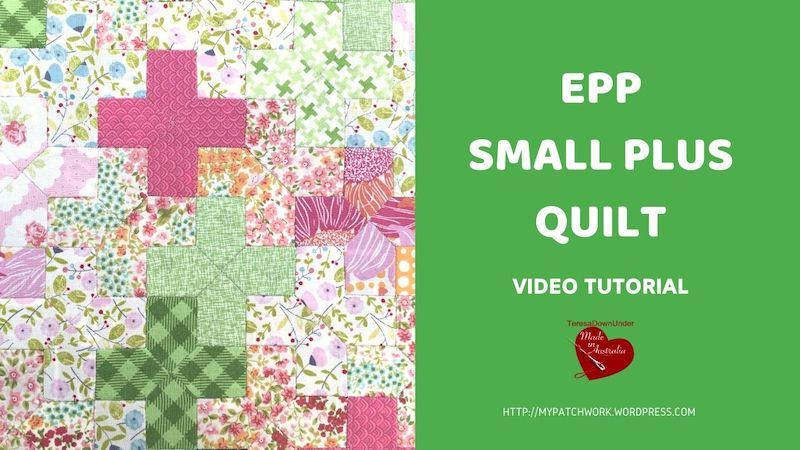 Small plus sign quilt video tutorial