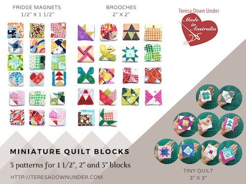 Miniature quilt blocks
