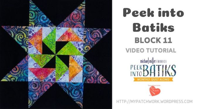 """Peek into batiks"" QAL – Block 11 video tutorial"