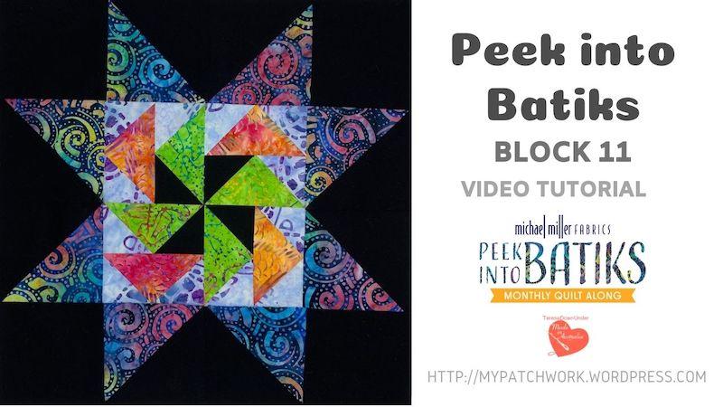 Peek into batiks QAL block 11
