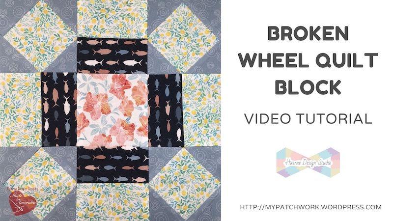 Broken wheel quilt block video tutorial