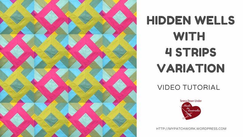 Hidden wells with 4 strips variation - video tutorial