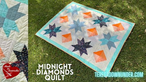 Midnight diamonds quilt pattern