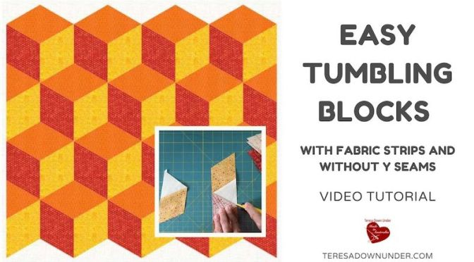 Easy tumbling blocks without Y seams