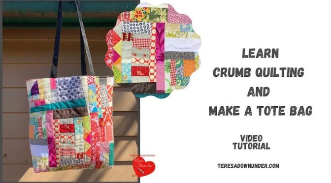 Learn crumb quilting and make a tote bag - video tutorial