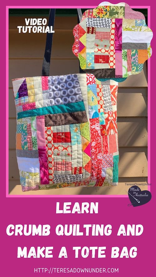 Learn crumb quilting and make a tote bag