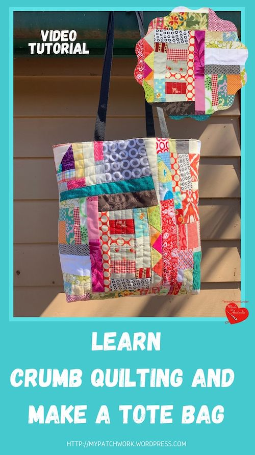 Crumb quilting tote bag video tutorial
