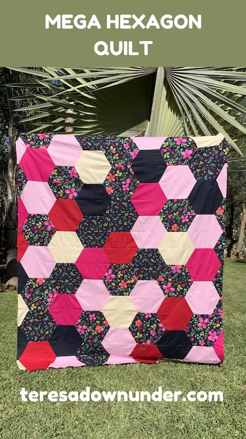 Mega half hexagon quilt video tutorial
