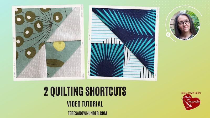 2 quilting shortcuts video tutorial