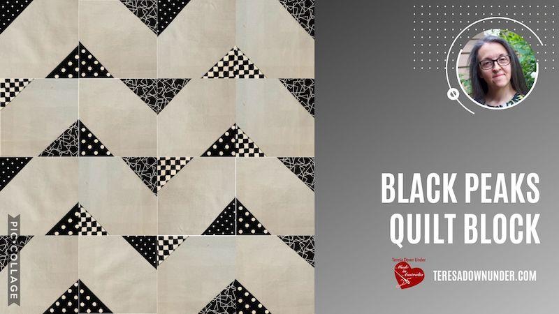 Black peaks quilt block video tutorial