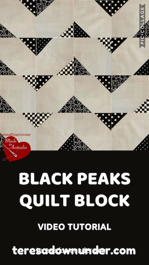 Black peaks quilt block video tutorial