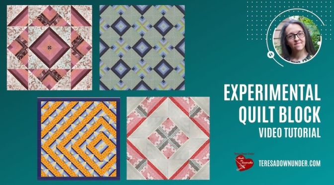 Experimental quilt block video tutorial