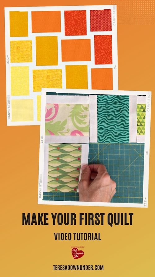 Make your first quilt video tutorial