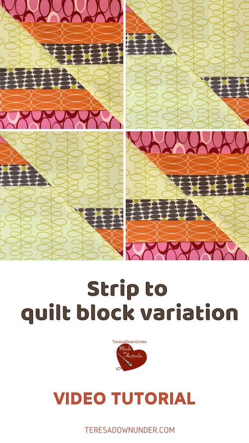 Strips to quilt block video tutorial