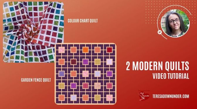 Two modern quilts: colour chart and garden fence – video tutorial