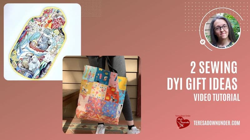 2 sewing DIY gift ideas video tutorial