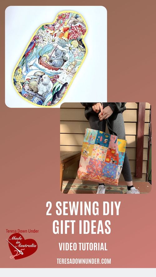 2 sewing DIY gift ideas video tutorial