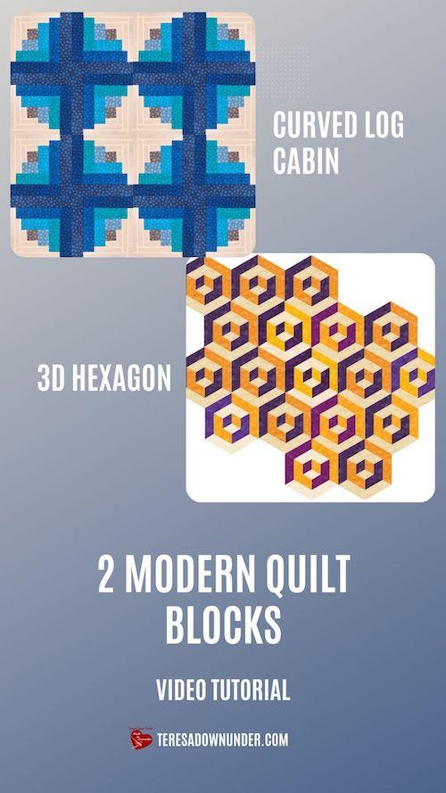 2 spectacular modern quilt blocks video tutorial