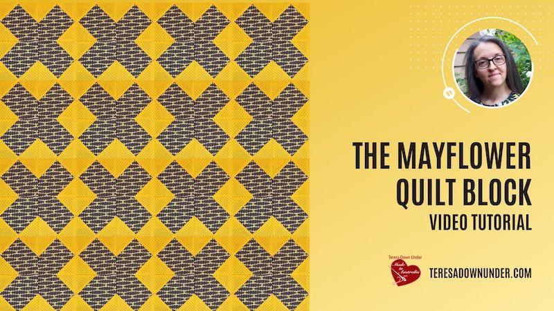 The Mayflower quilt block video tutorial
