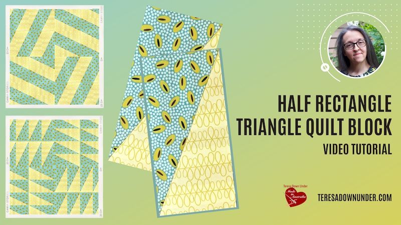 Half rectangle triangle quilt block - video tutorial