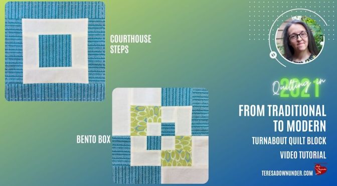 From traditional to modern: Courthouse steps block and Bento box block - video tutorial