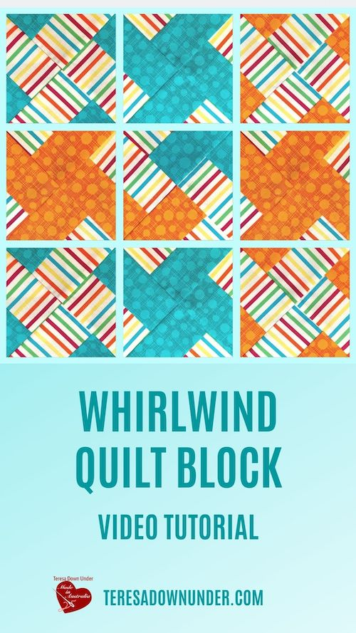 Whirlwind quilt block video tutorial