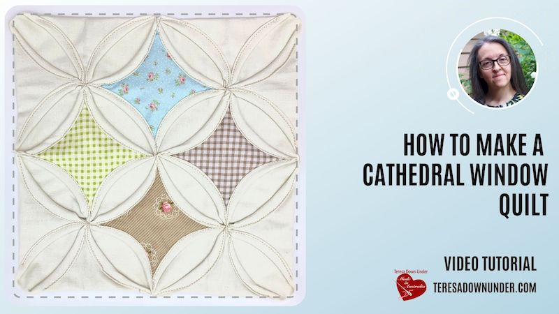 Cathedral window quilt - video tutorial
