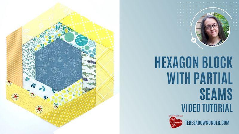 Hexagon block with partial seams video tutorial