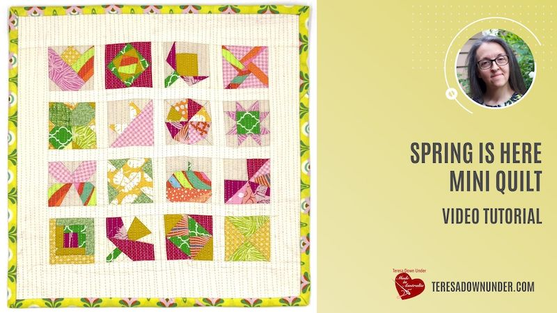 Spring is here miniature quilt