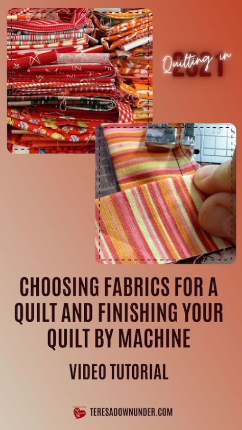 Binding and choosing fabrics for a quilt project