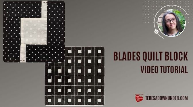 Blades quilt block – Morocco series – block 2- video tutorial