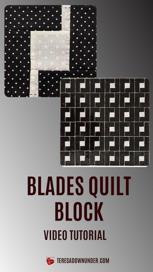 Blades quilt block video tutorial