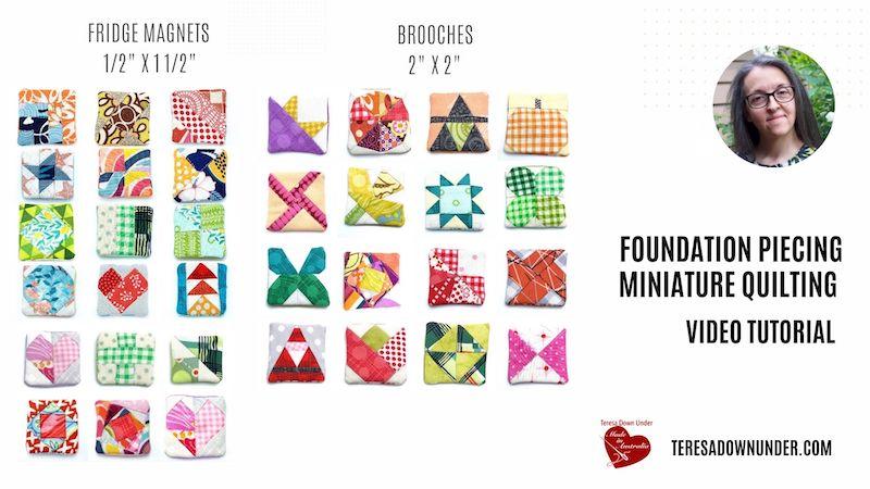 Foundation piecing miniature quilting video tutorial
