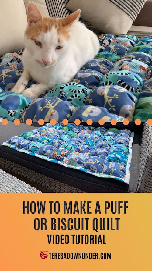How to make a biscuit quilt part 2