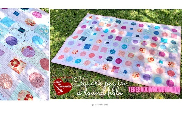 Square peg in a round hole quilt pattern