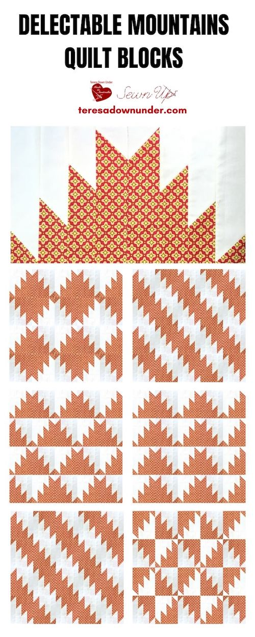 Delectable mountains quilt blocks