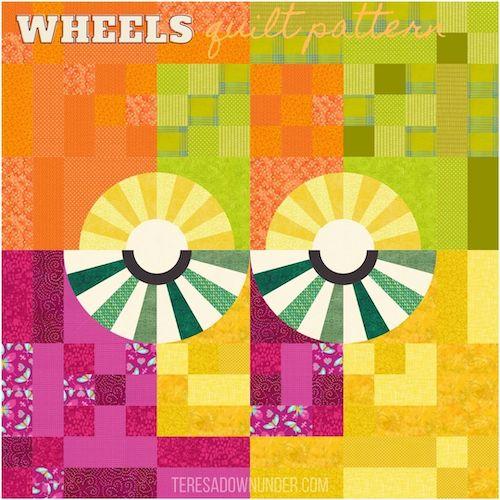 Wheels quilt pattern - teresadownunder.com