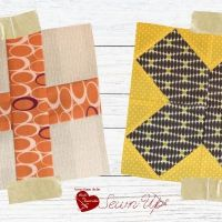 2 styles of cross quilt blocks
